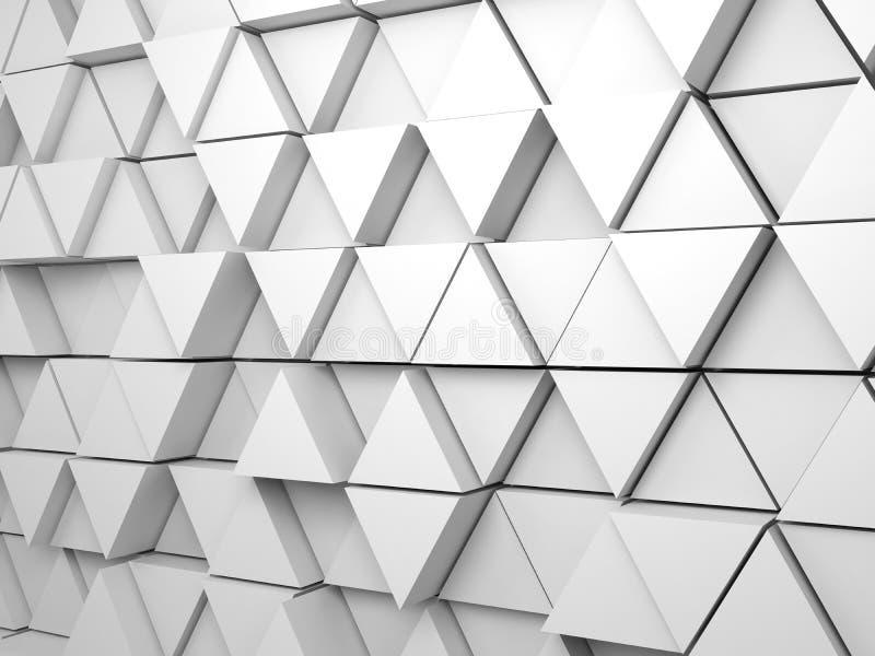modèle expulsé régulier des triangles 3d sur le mur photos stock