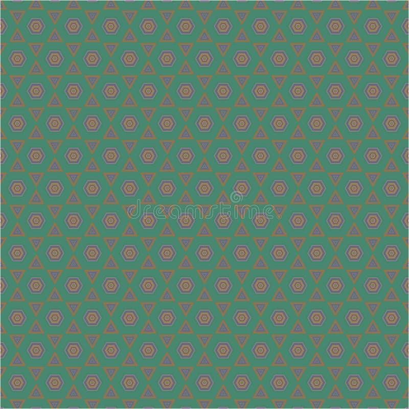 Modèle extérieur de texture de fond de couleur de nid d'abeilles de vecteur hexagonal abstrait de tissu illustration de vecteur
