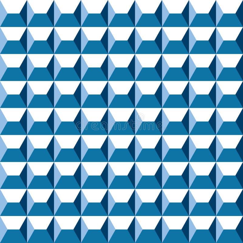 Modèle extérieur métallique bleu géométrique de résumé sans couture illustration de vecteur