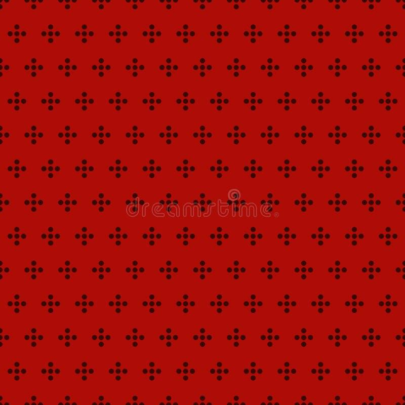 Modèle extérieur sans couture avec l'ornement géométrique texture de point de polka Motif répété de cercles Fond abstrait de bull illustration libre de droits