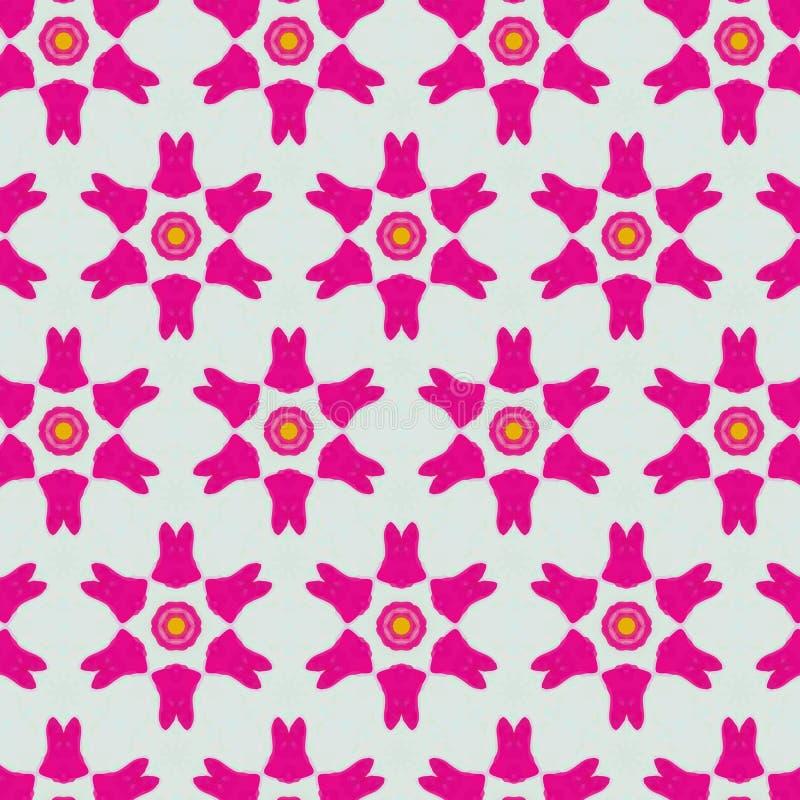 Modèle féminin au néon abstrait mignon pour des textiles illustration stock