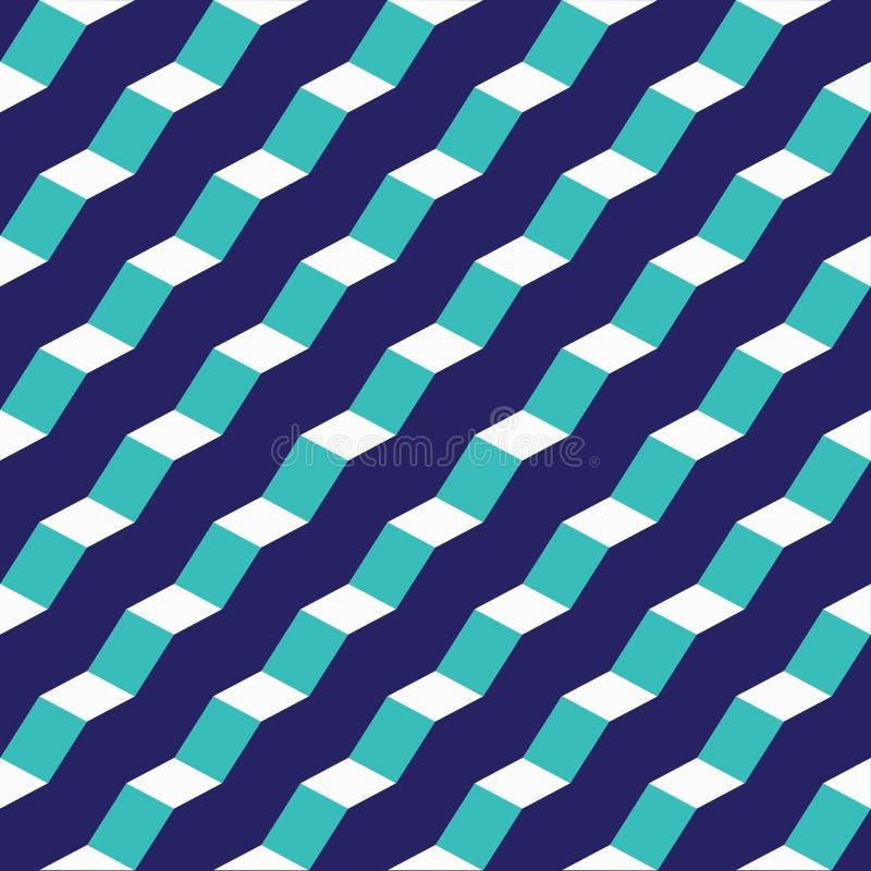 Modèle facetté abstrait géométrique sans couture d'étape illustration de vecteur