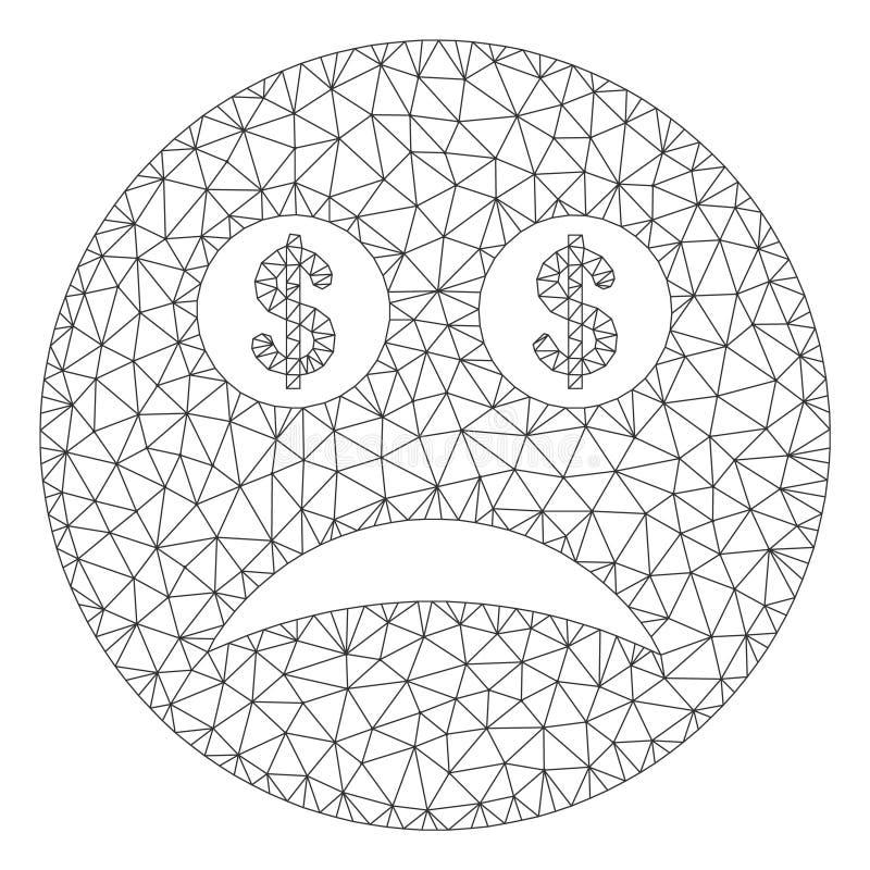 Modèle faillite de Smiley Vector Mesh Wire Frame illustration stock