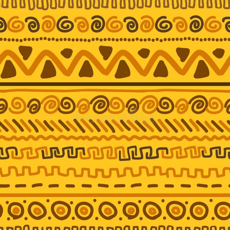 Modèle fait main avec l'ornement géométrique ethnique illustration de vecteur