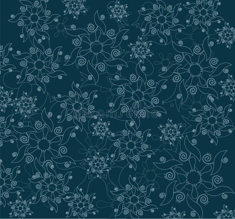 Modèle floral abstrait illustration stock