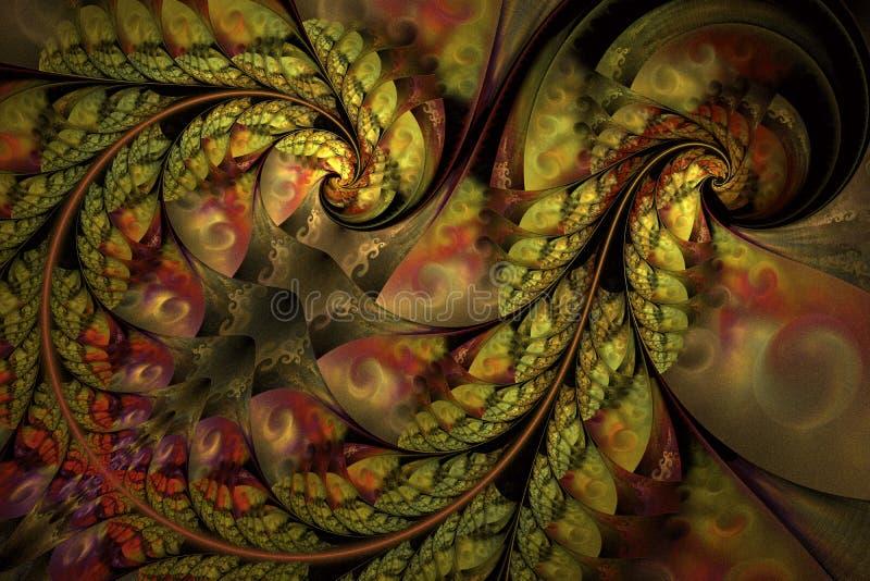 Modèle floral abstrait infini féerique Couleurs lumineuses et texture de scintillement illustration de vecteur