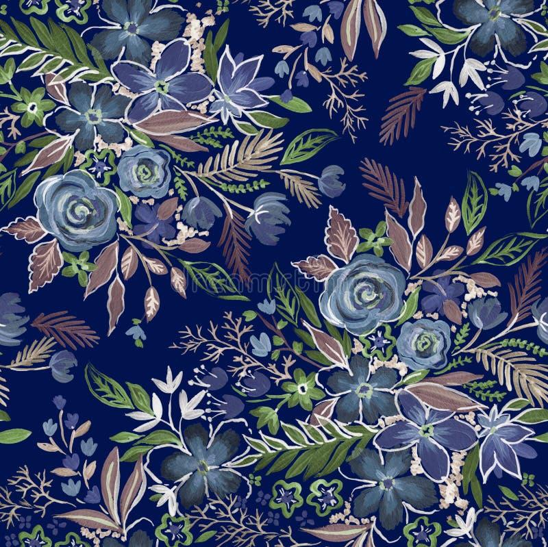 Download Modèle floral amorti foncé photo stock. Image du configuration - 76082106