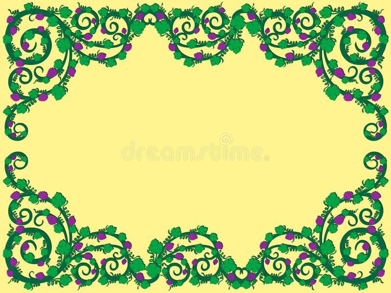 Modèle floral avec des éléments de raisin illustration stock