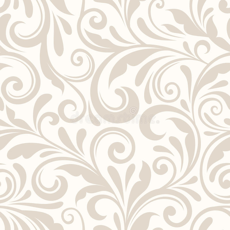 Modèle floral beige sans couture de vintage Illustration de vecteur illustration de vecteur