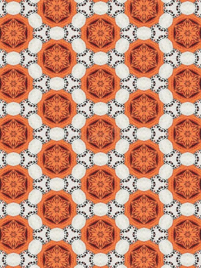 Modèle floral blanc et orange photographie stock