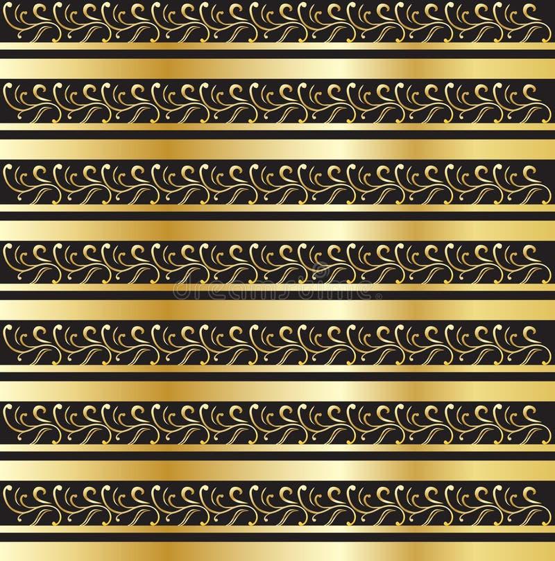 Modèle floral d'or illustration libre de droits