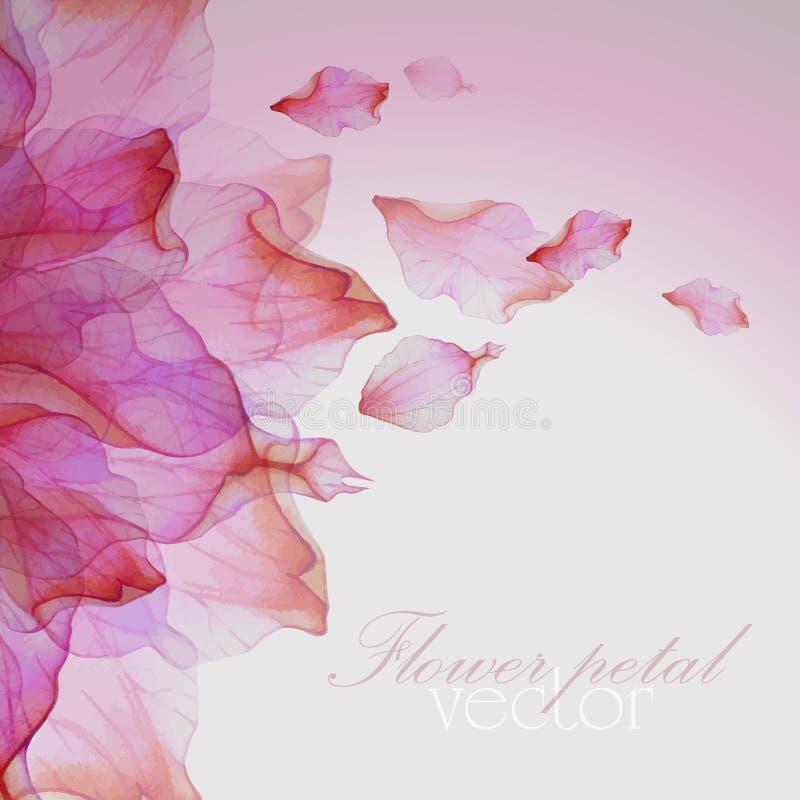 Modèle floral d'aquarelle avec des pétales illustration stock