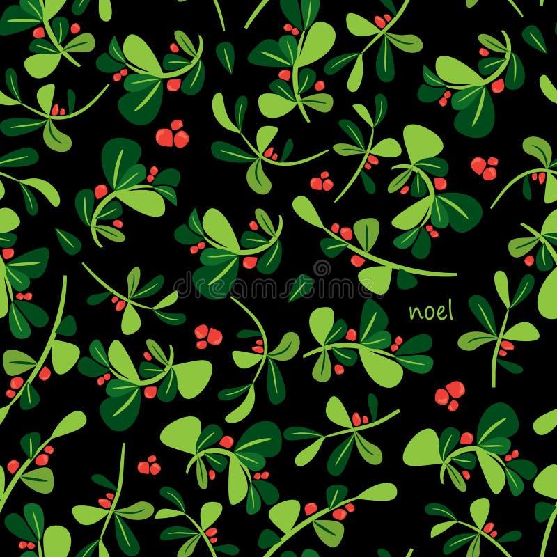 Modèle floral d'hiver sans couture Fond plat de Noël de vecteur illustration de vecteur