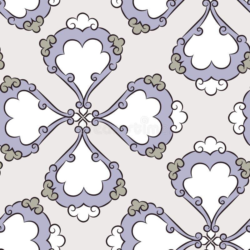 Modèle floral de carreaux de céramique d'Iznik illustration stock