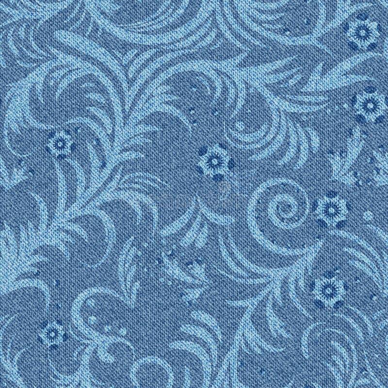 Modèle floral de denim illustration de vecteur
