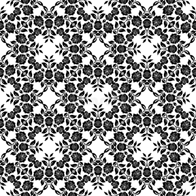 Modèle floral de dentelle illustration de vecteur