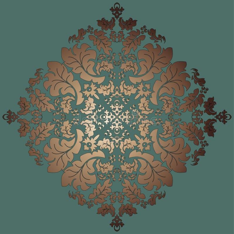 Modèle floral de fond de cru de damassé, illustration du vecteur Eps10 illustration de vecteur