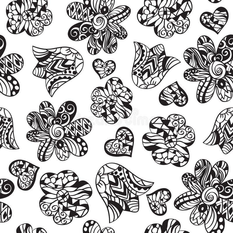 Modèle floral de griffonnage illustration libre de droits