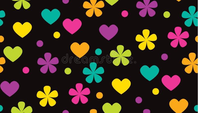 Modèle floral de polka de couleur tropicale abstraite de point illustration libre de droits
