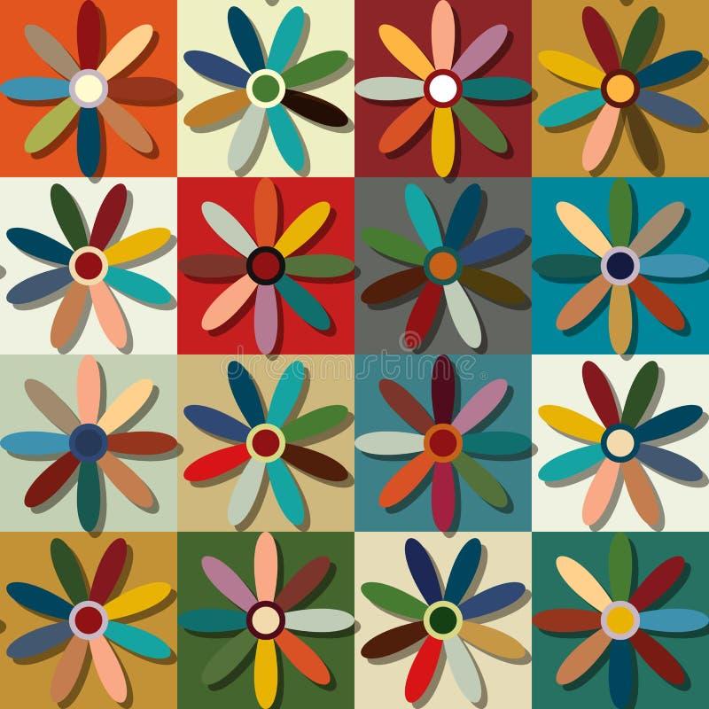 Modèle floral de rétro style illustration libre de droits