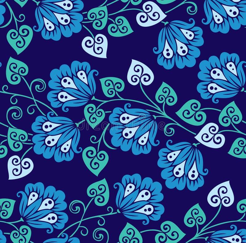 Modèle floral de vecteur chinois sans couture pour la conception en céramique illustration de vecteur