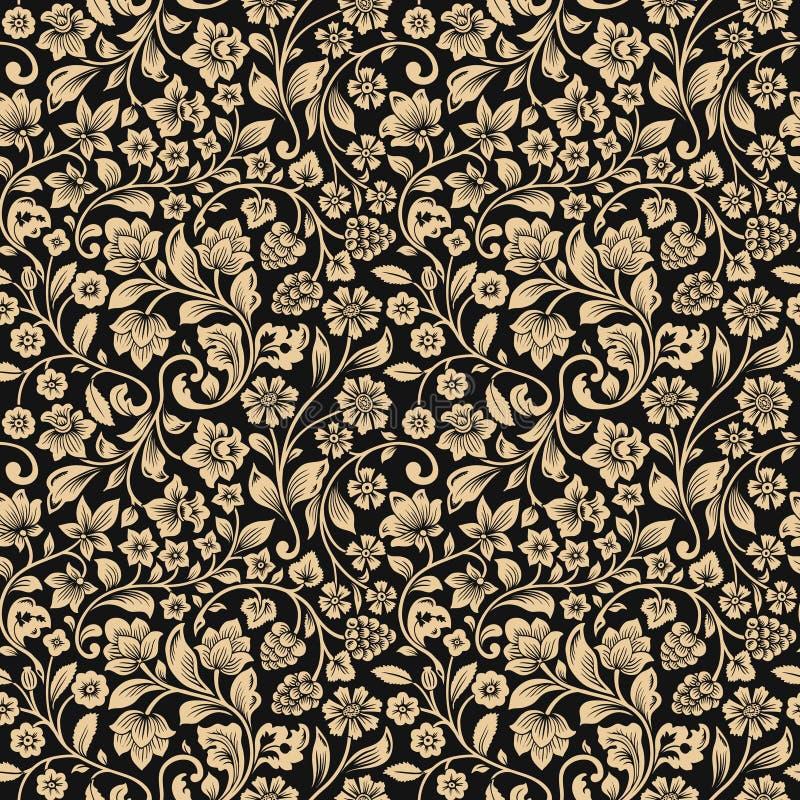 Modèle floral de vintage sans couture de vecteur. illustration stock