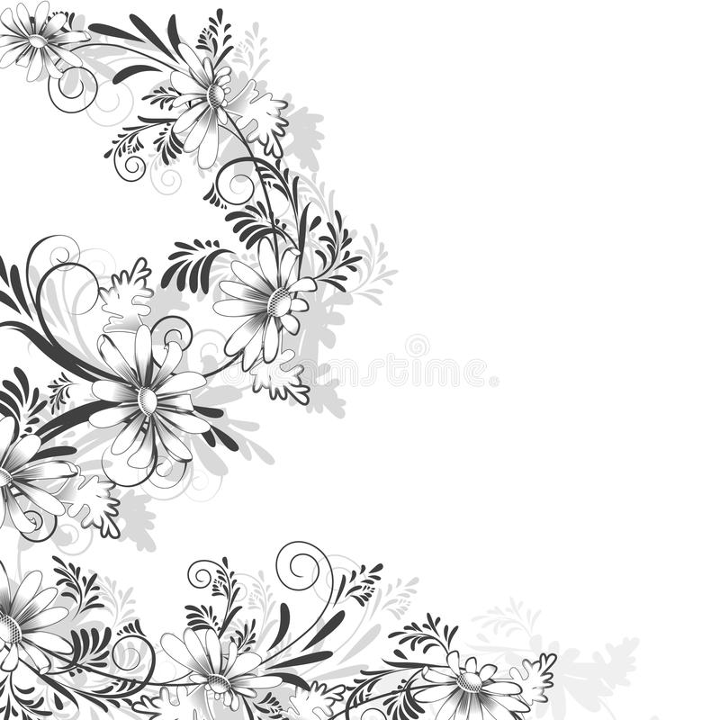 Modèle floral des marguerites illustration libre de droits