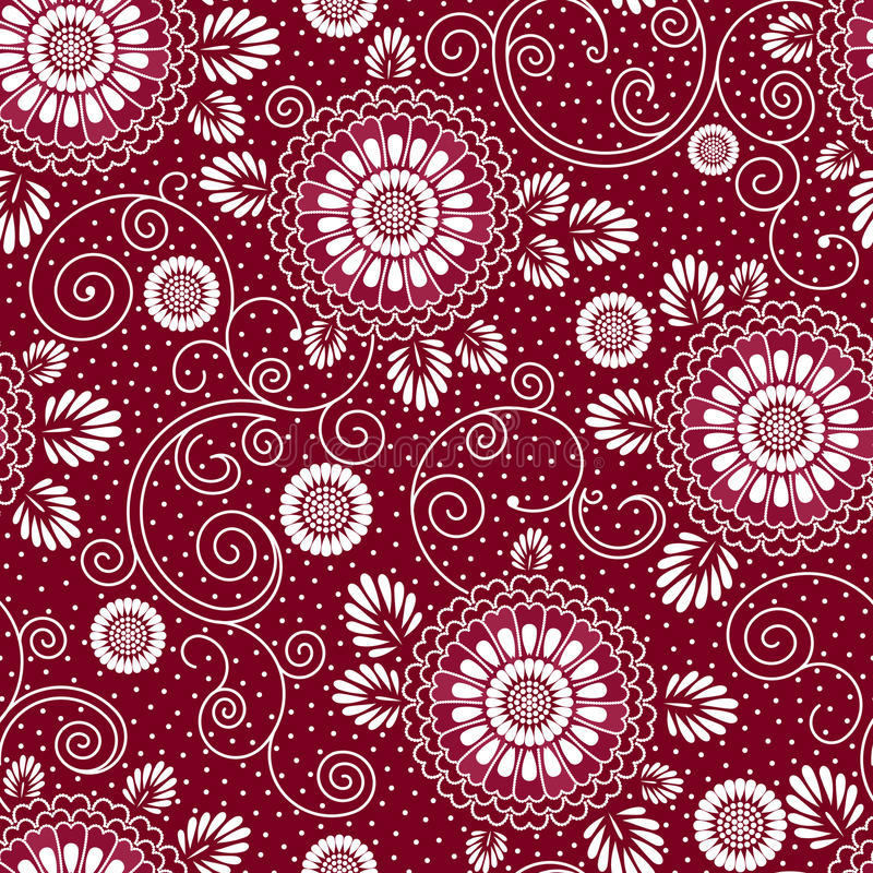 Modèle floral du Japon illustration de vecteur