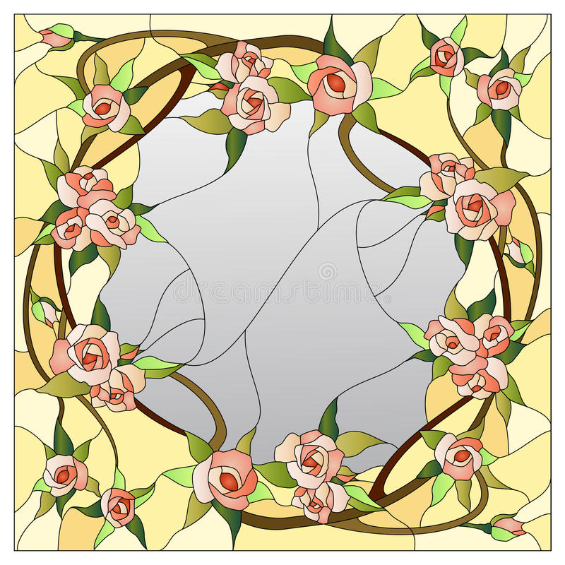 Modèle floral en verre souillé illustration libre de droits