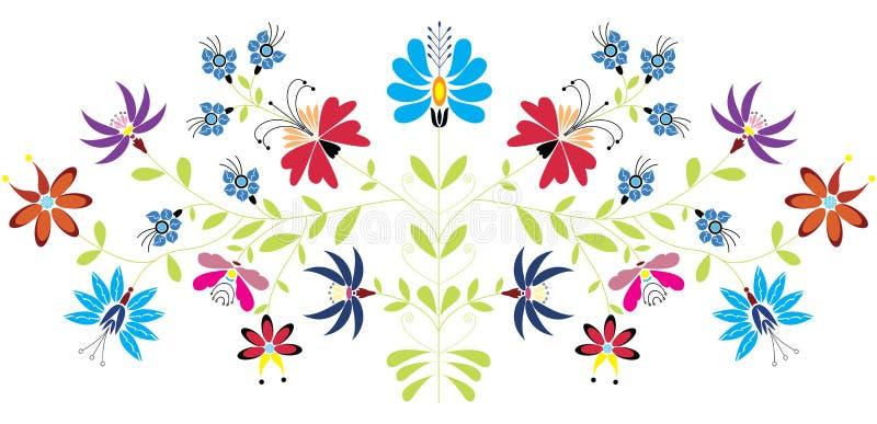 Modèle floral folklorique illustration stock