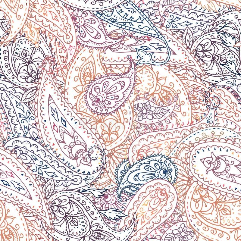 Modèle floral indien coloré sans couture de Paisley illustration libre de droits