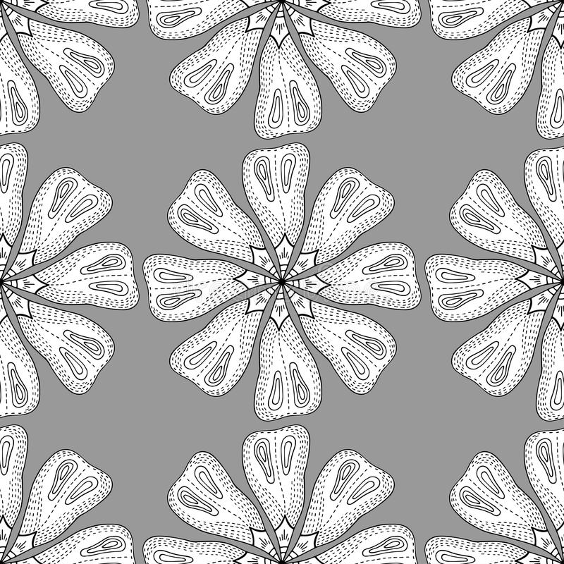 Modèle floral monochrome illustration stock