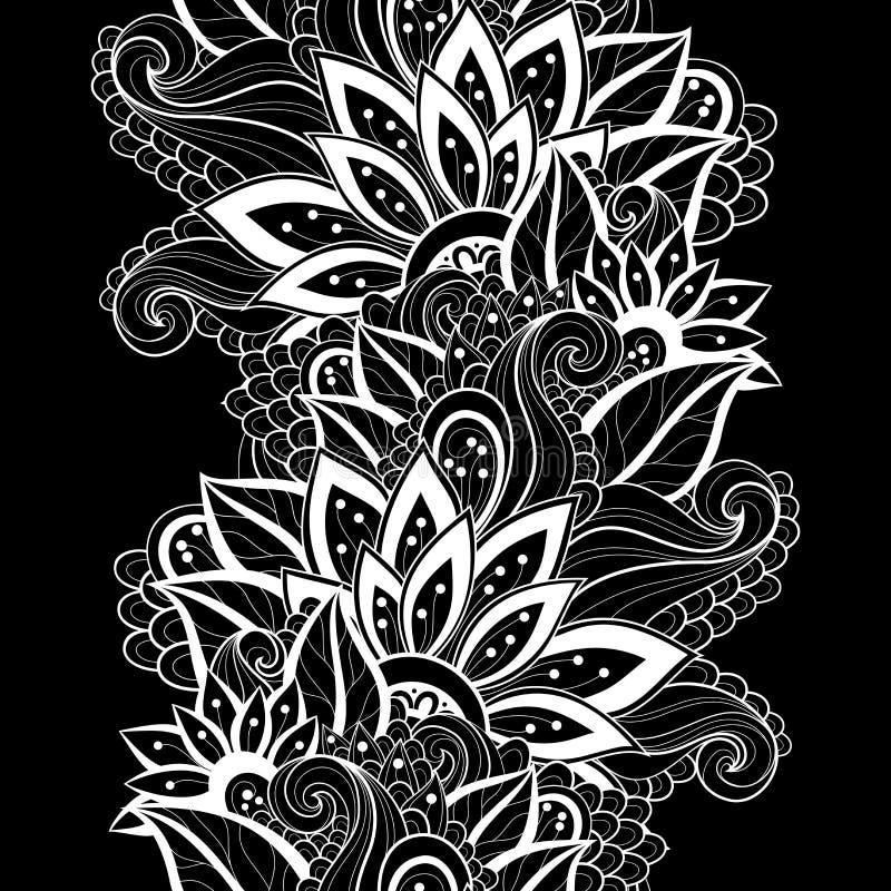 Download Modèle Floral Monochrome Sans Couture De Vecteur Illustration de Vecteur - Illustration du parterre, main: 56479662