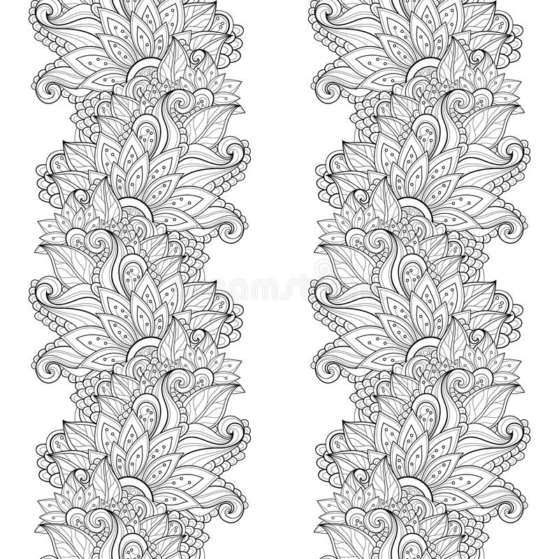 Download Modèle Floral Monochrome Sans Couture De Vecteur Illustration de Vecteur - Illustration du conception, herbes: 56481439