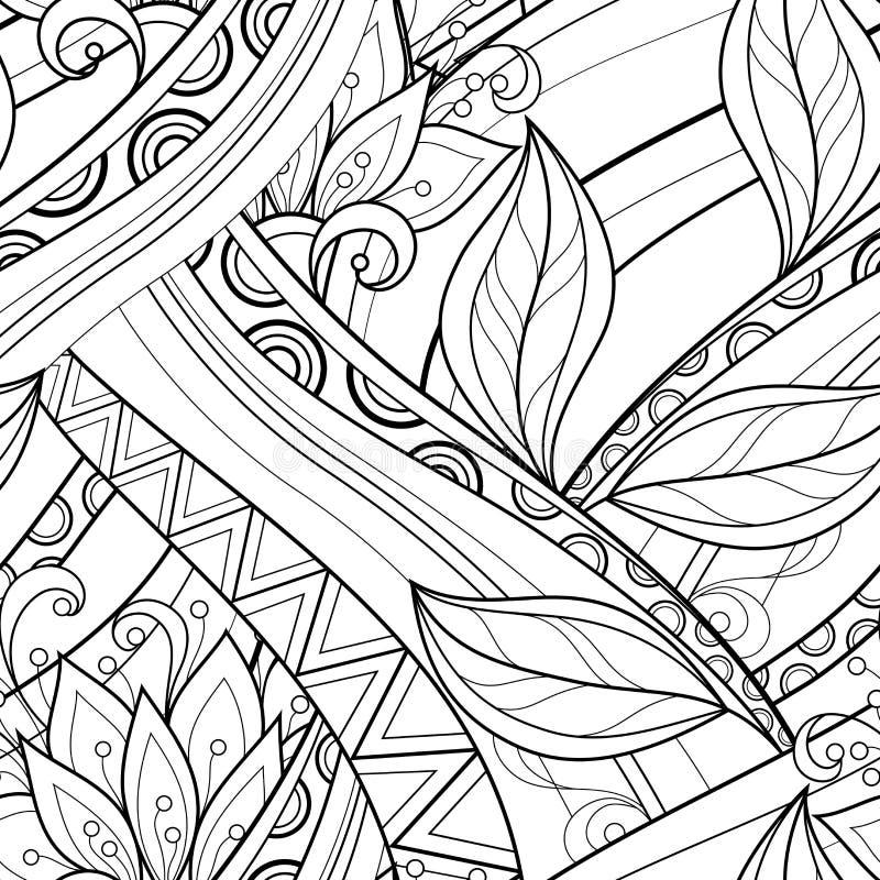 Download Modèle Floral Monochrome Sans Couture De Vecteur Illustration de Vecteur - Illustration du bouquet, noir: 56482506