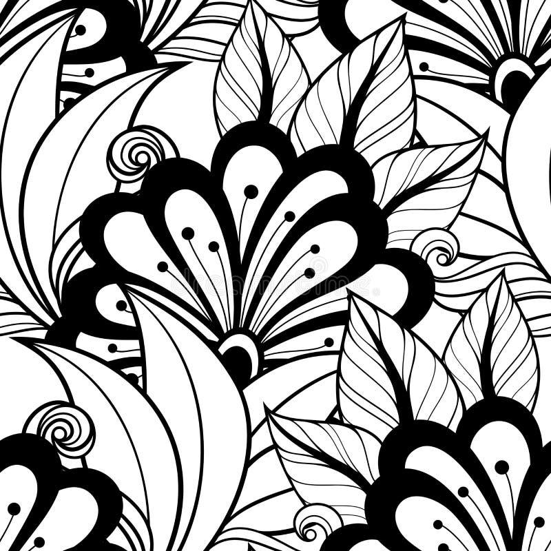 Download Modèle Floral Monochrome Sans Couture De Vecteur Illustration de Vecteur - Illustration du coloration, parterre: 56482556