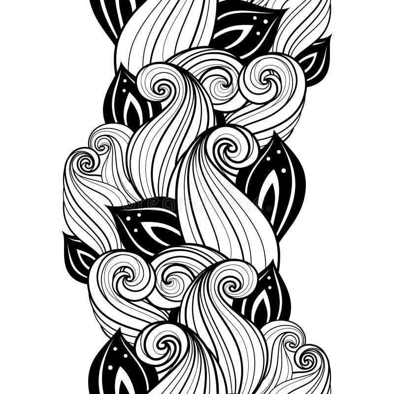 Download Modèle Floral Monochrome Sans Couture (vecteur) Illustration de Vecteur - Illustration du main, carte: 56479429