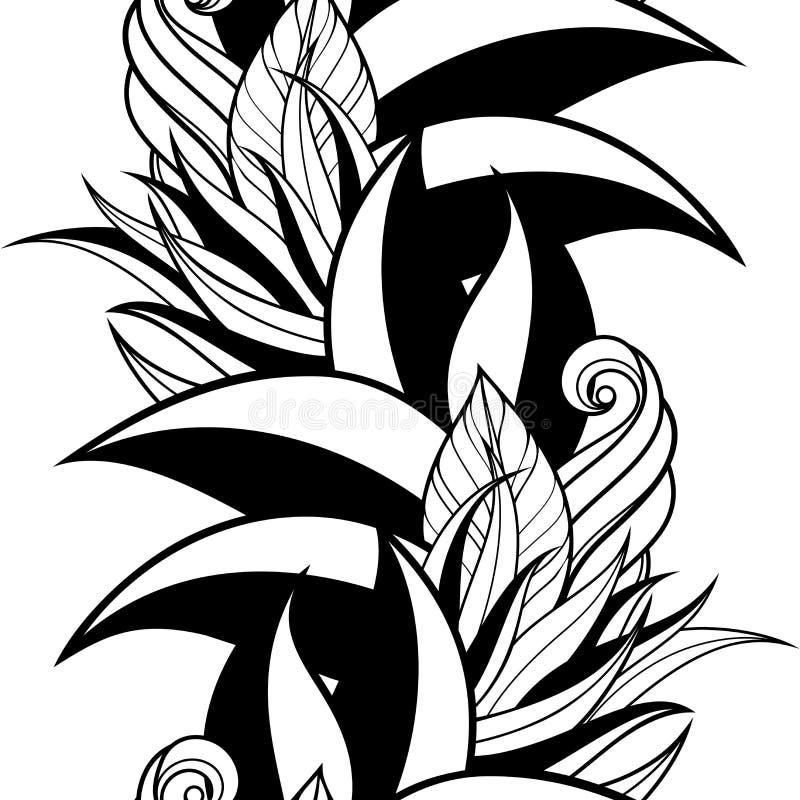 Download Modèle Floral Monochrome Sans Couture (vecteur) Illustration de Vecteur - Illustration du lacet, griffonnage: 56480318