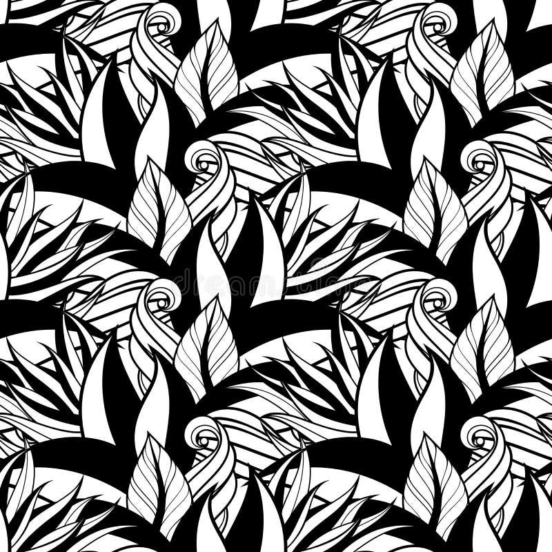 Download Modèle Floral Monochrome Sans Couture (vecteur) Illustration de Vecteur - Illustration du branchement, vacances: 56481792