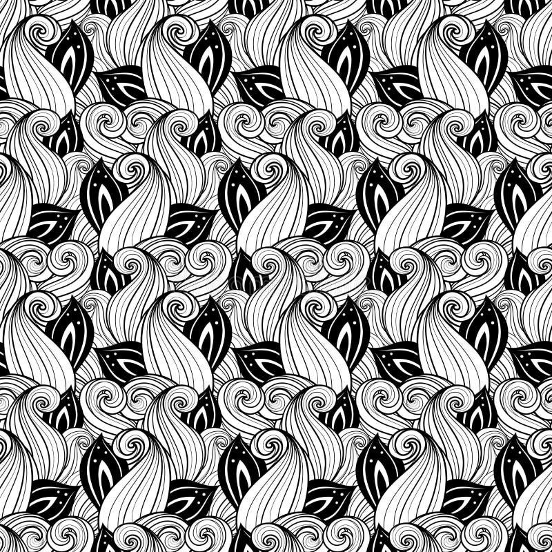 Download Modèle Floral Monochrome Sans Couture (vecteur) Illustration de Vecteur - Illustration du fleur, décoratif: 56482552