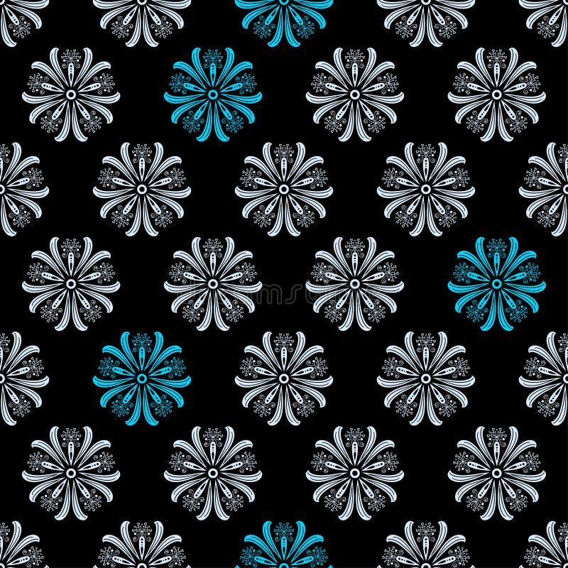 Download Modèle Floral Original Sans Couture Sur Le Fond Noir Illustration de Vecteur - Illustration du illustration, ornement: 87707878
