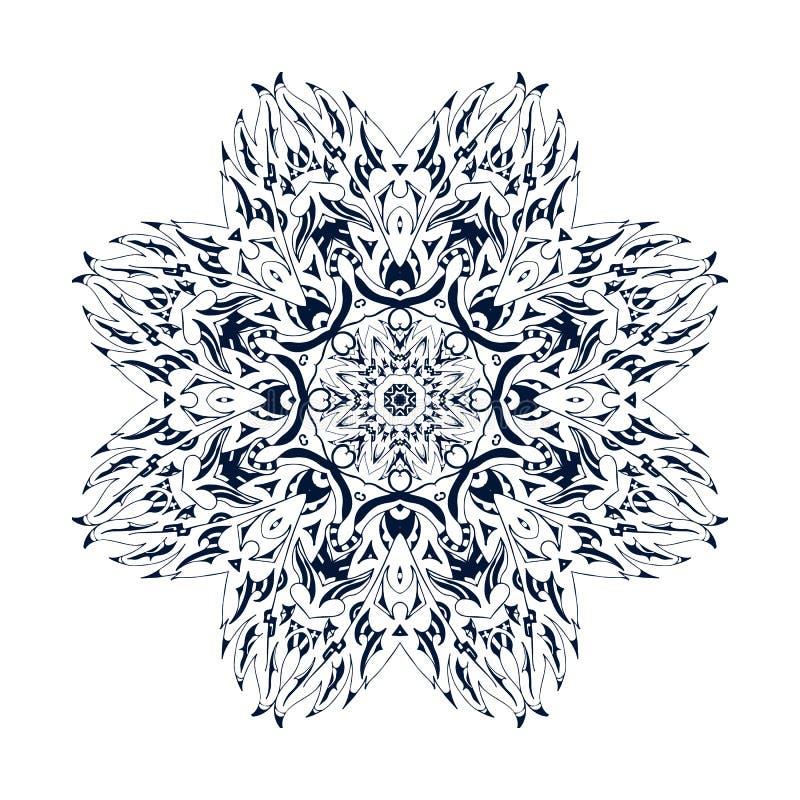 Modèle floral ornemental ethnique Ornement ethnique d'isolement par vecteur mexicain tribal illustration libre de droits
