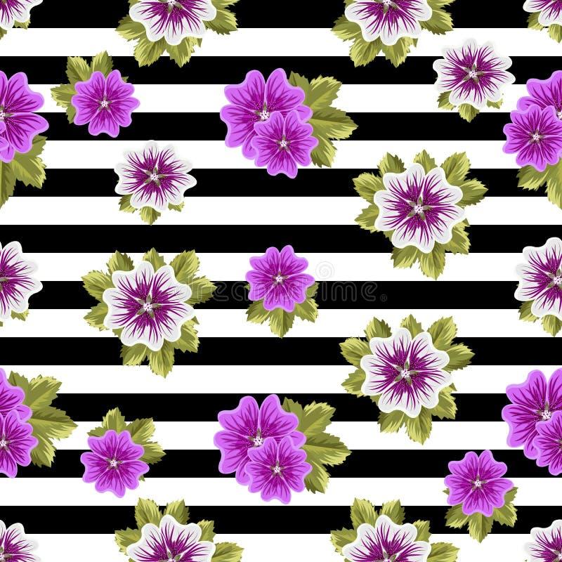Download Modèle Floral Sans Couture Avec Des Mauves Illustration Stock - Illustration du floral, mode: 76083619