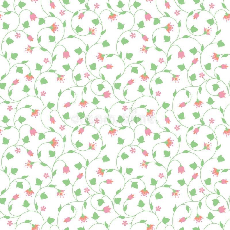 Modèle floral sans couture avec les fleurs roses minuscules illustration stock