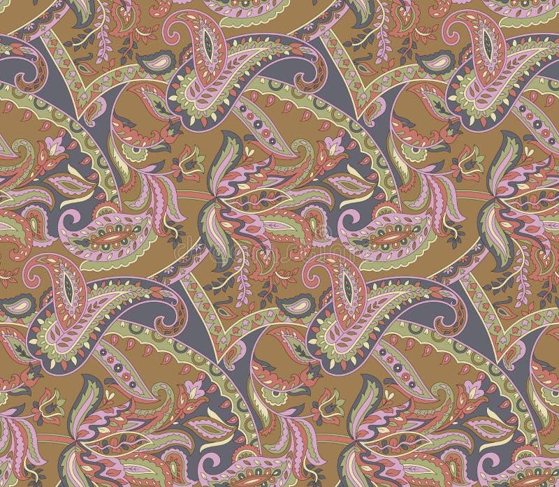 Mod?le floral sans couture de cru de Paisley illustration libre de droits