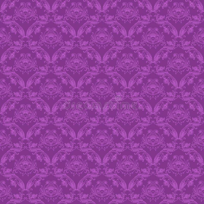 Modèle floral sans couture de damassé illustration stock
