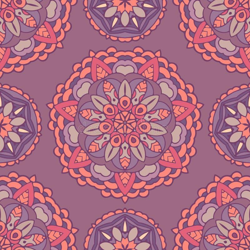 Modèle floral sans couture de médaillon de vecteur illustration de vecteur