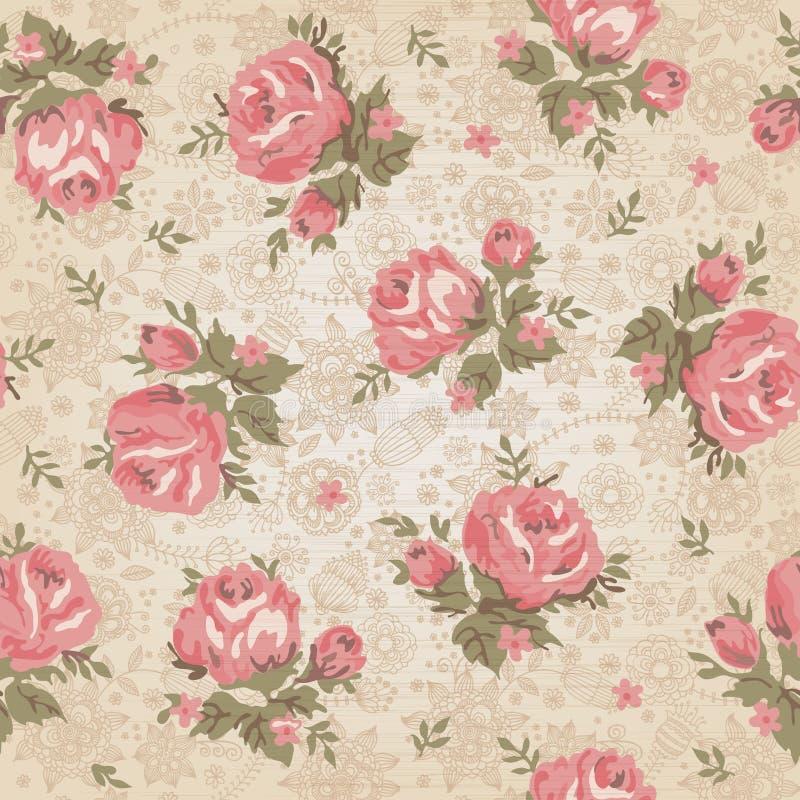 Modèle floral sans couture de vintage illustration stock