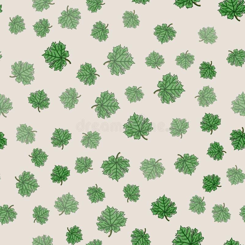 Modèle floral sans couture retenu illustration stock