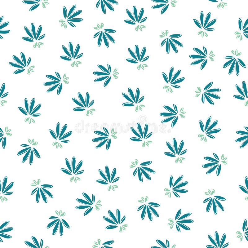 Modèle floral sans couture simple illustration stock